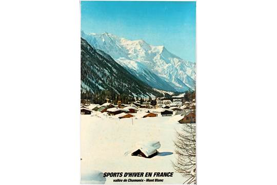 Winter Sports in France Vintage Travel Advertisement Poster
