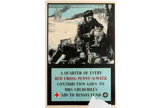 Original vintage UK propaganda poster A Quarter of Every Red