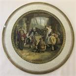 """A large Pratt ware ceramic plaque """"The Last In"""" by W Mutready.R.A."""