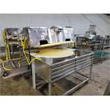 16 Station Carousel Type Continuous Onion Slicer, Dual Blade   Rig Fee: $250