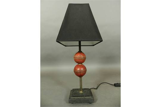 Leather Cricket, Cricket Ball Lamp Base