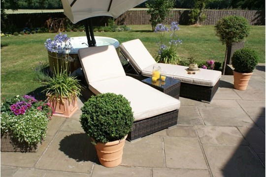 Lot 34 - Rattan Orlando Sun lounger Set (Brown) *BRAND NEW*