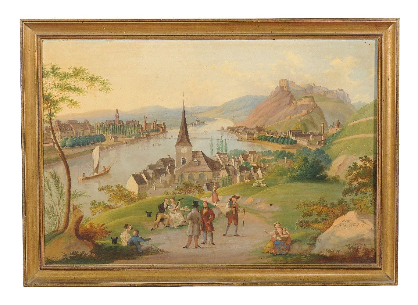 Lot 16 - Carl Ludwig Hofmeister (Austrian 1790-1843)Koblenz Ehrenbreitstein und Staffendorf am Rhein