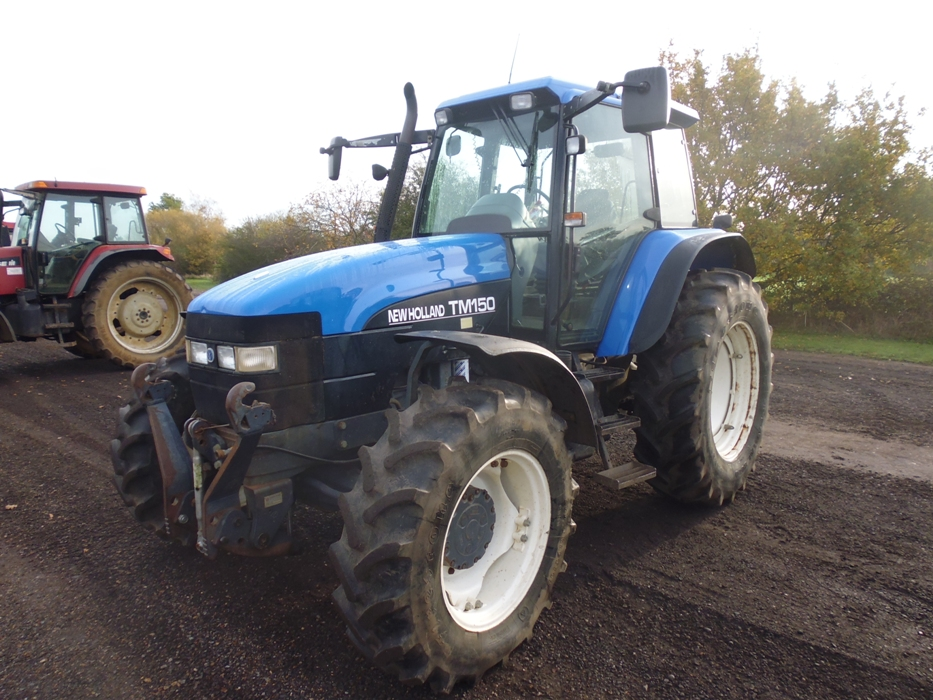 New Holland TM150 4WD tractor  Registration X751 LPV  8638 hours  S