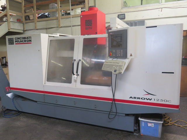 Cincinnati Milacron Arrow 1250C 4-Axis CNC Vertical Machining Center s/n 7064-AOO-98-0006 w/