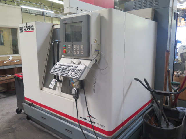 Cincinnati Milacron Arrow 500 4-Axis CNC Vertical Machining Center s/n 7042-AOB-98-1717 w/ Acramatic - Image 2 of 14