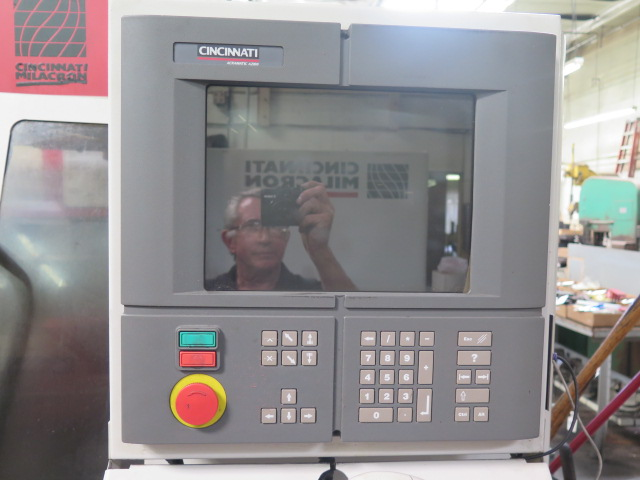 Cincinnati Milacron Arrow 500 4-Axis CNC Vertical Machining Center s/n 7042-AOB-98-1717 w/ Acramatic - Image 6 of 14