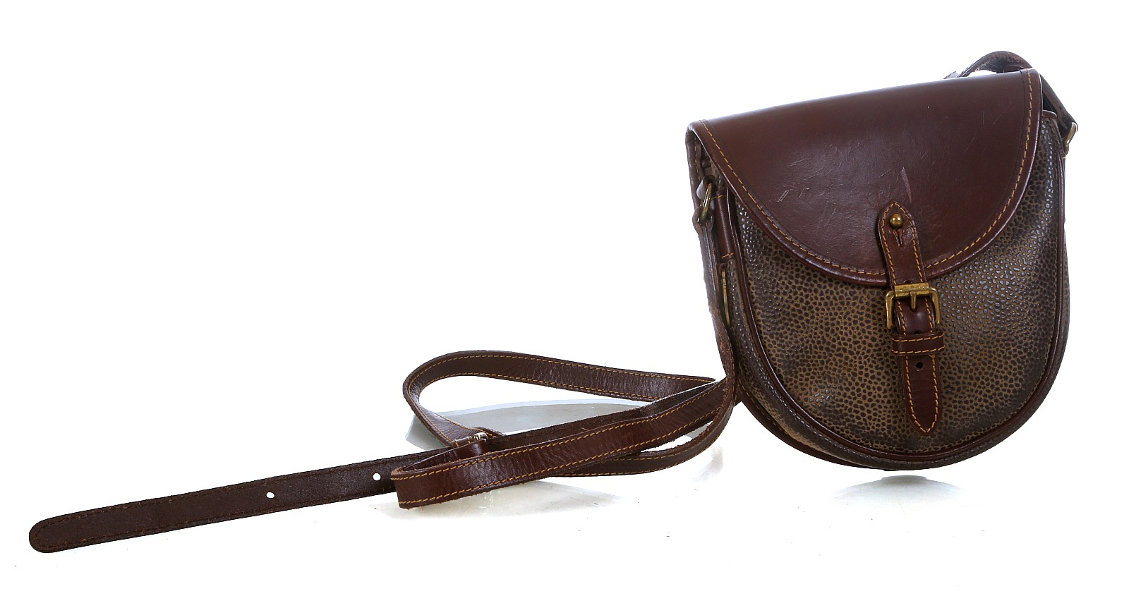 c8c9147ede ... closeout lot 91 early mulberry saddle bag 1970s scotchgrain with 12515  ee7cd