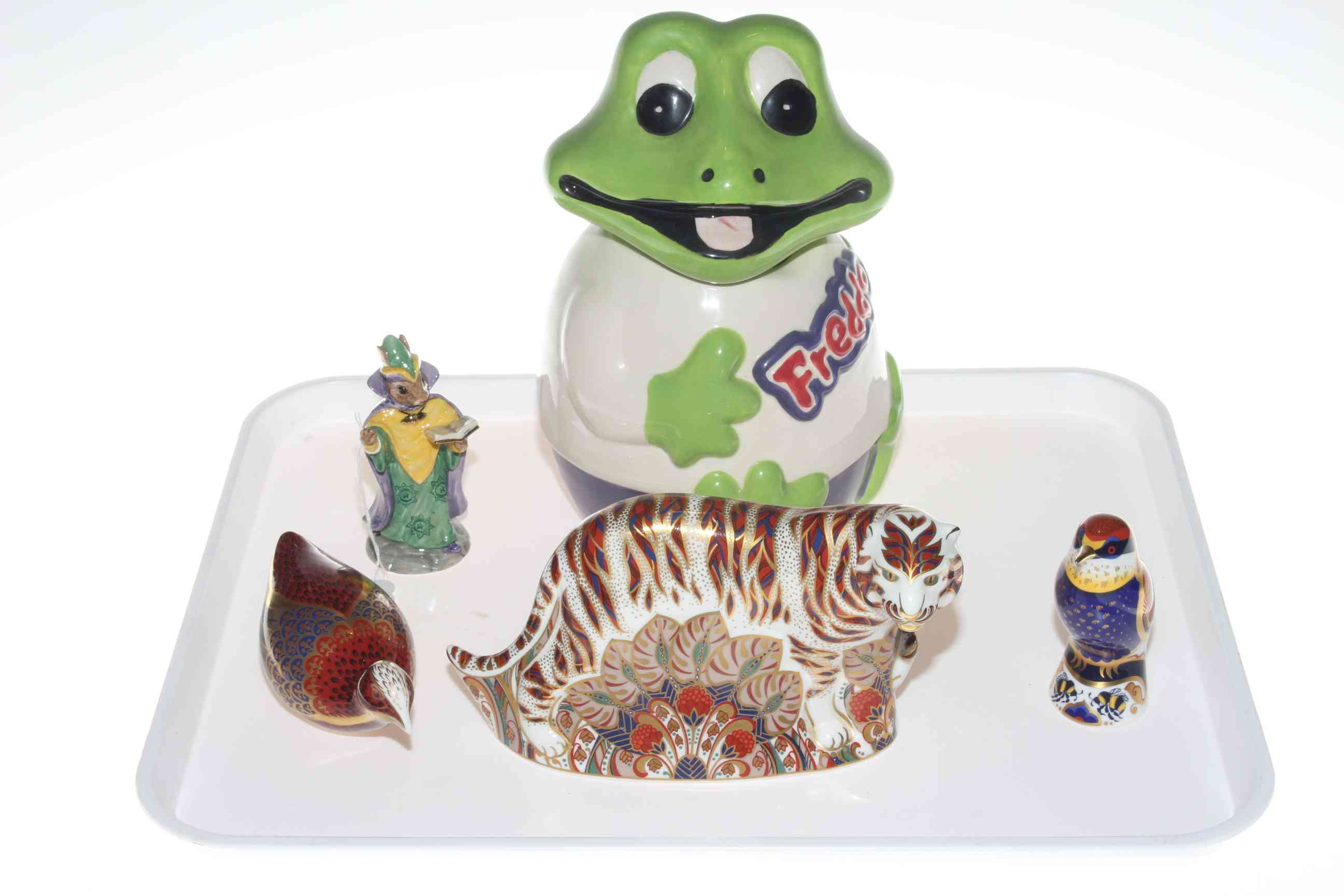 Lot 17 - Three Royal Crown Derby paperweights,