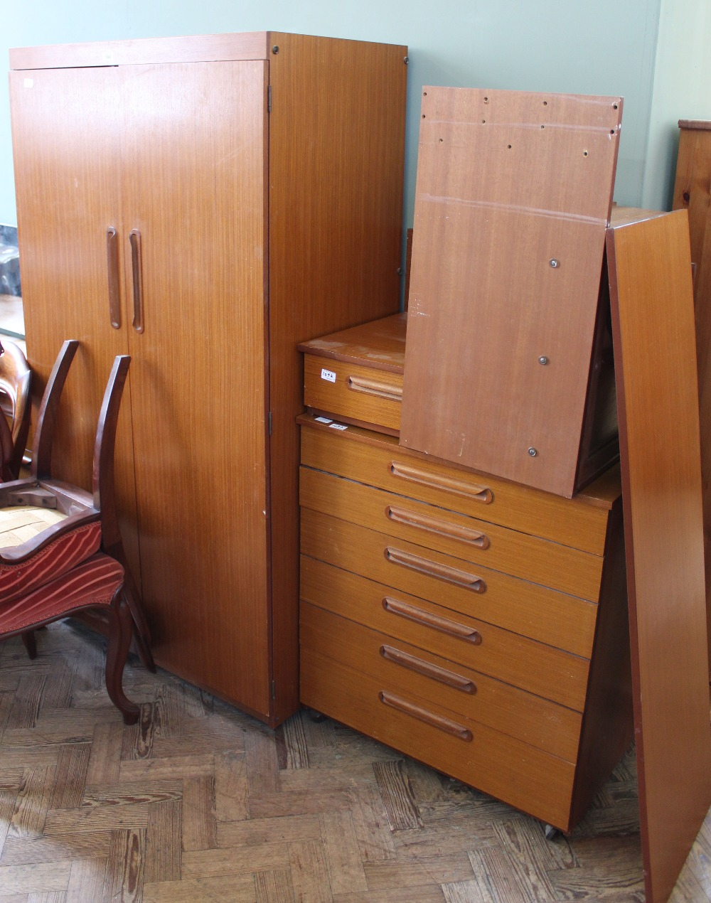 Lot 1042 - A retro 1970's G Plan wardrobe,