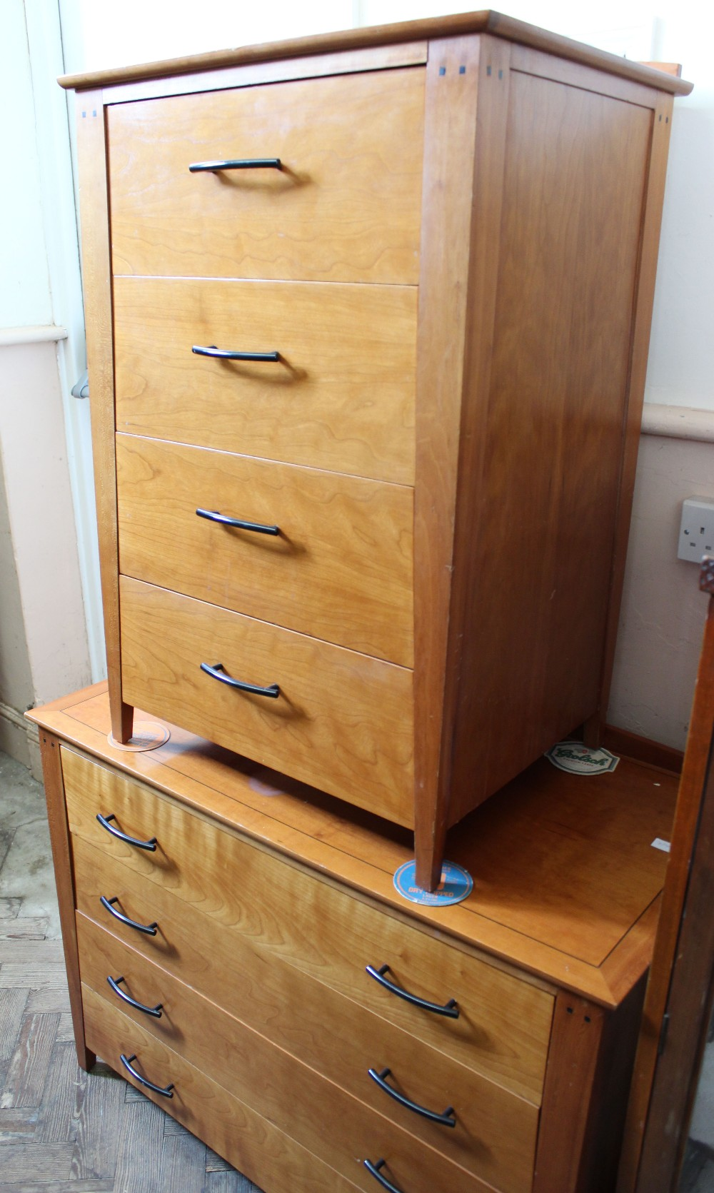 Lot 1044 - A large collection of modern matching bedroom furniture including eleven modern single drawer