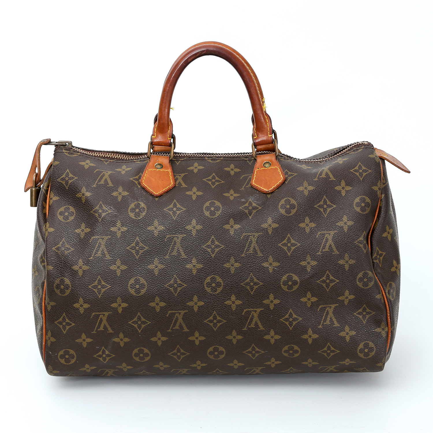 louis vuitton klassische henkeltasche speedy 35 koll 1984 monogram canvas serie. Black Bedroom Furniture Sets. Home Design Ideas