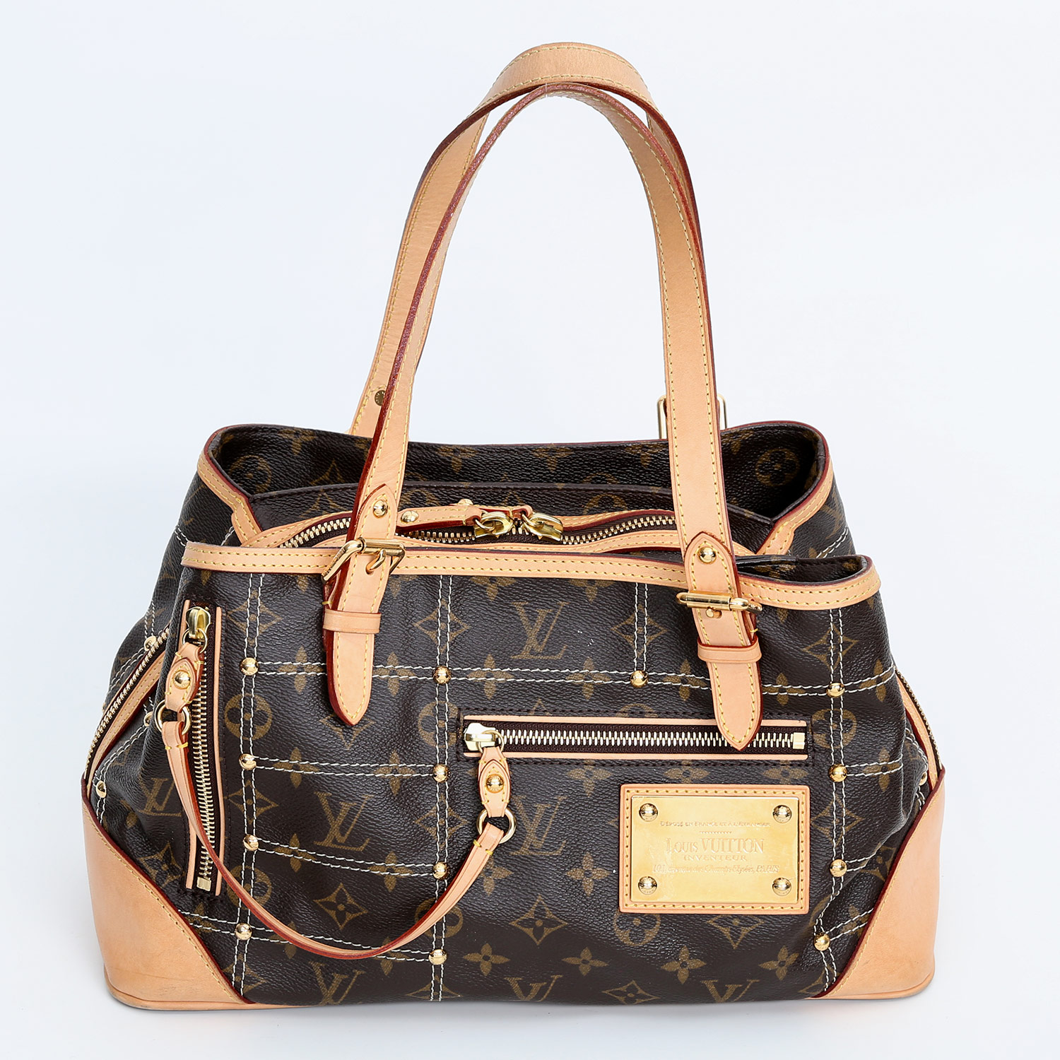 louis vuitton seltene henkeltasche riveting satchel bag koll 2007 limited edition letzter. Black Bedroom Furniture Sets. Home Design Ideas