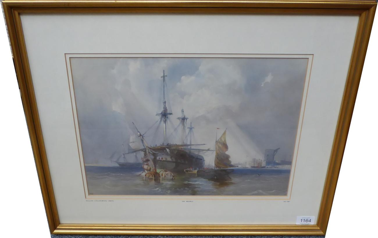 Lot 1164 - William Collingwood Smith RWS (1815-1887) The Medway, initialled, pencil and watercolour