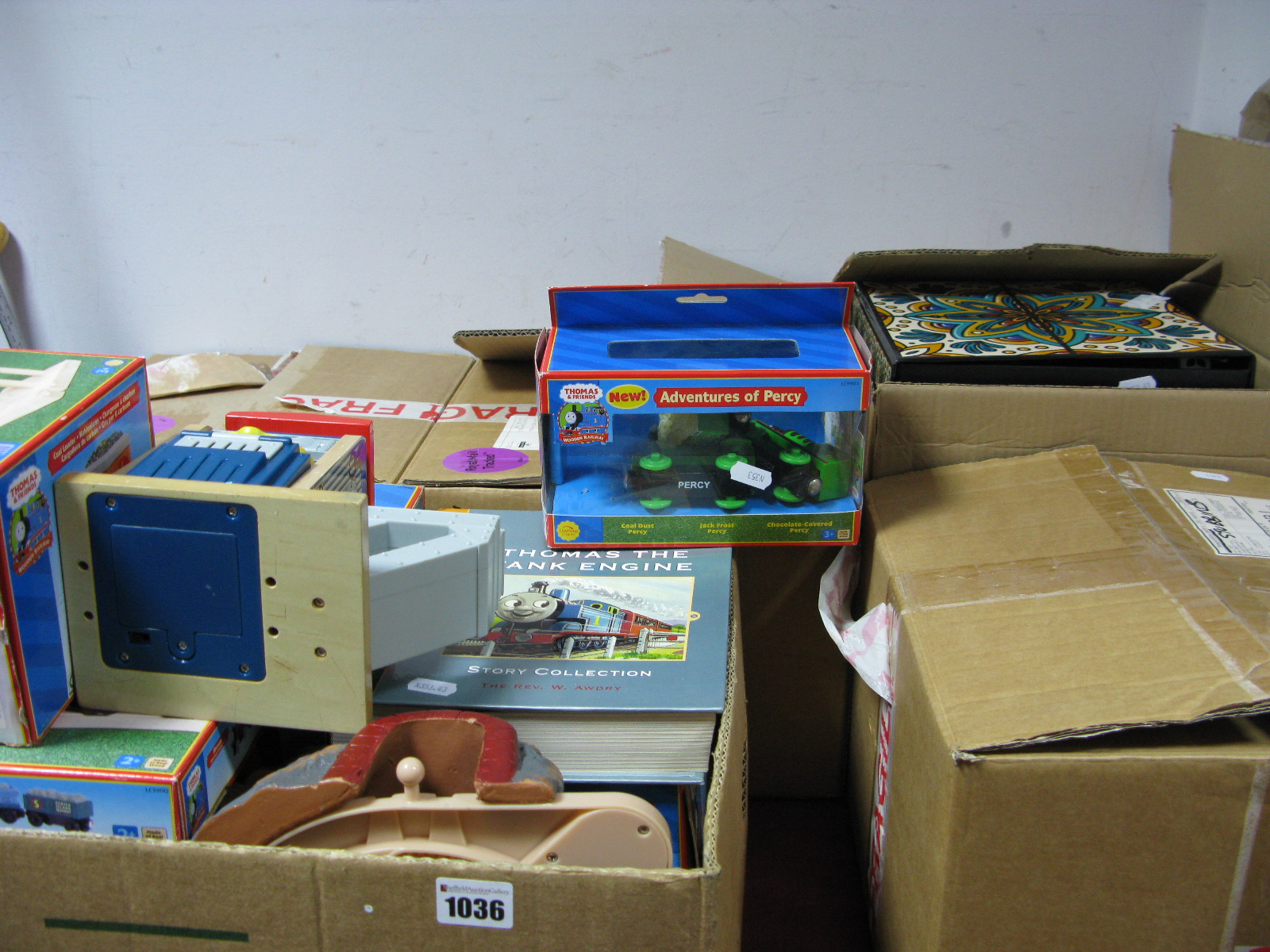 Lot 1036 - A Quantity of Thomas The Tank Engine Wooden Railway Accessories, layout, track, figures, etc.