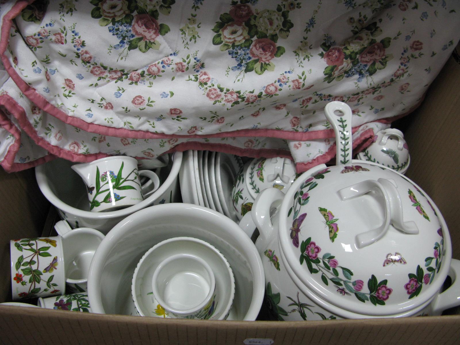 Lot 1041 - Portmeirion 'Botanic Garden' Soup Tureen, ladle, teapot, coffee pot (dam), jardinieres, other