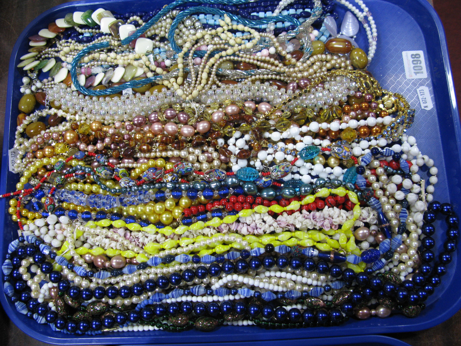Lot 1098 - A Mixed Lot of Assorted Bead Necklaces:- One Tray