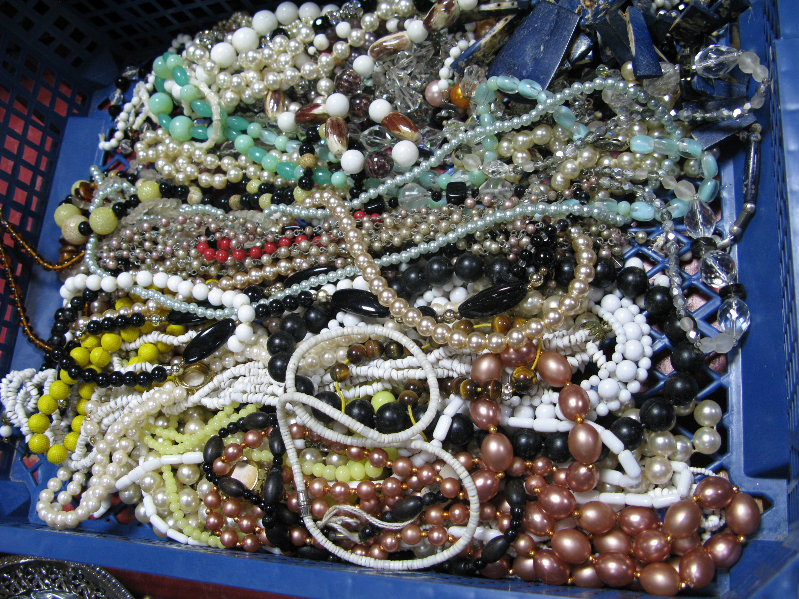 Lot 1049 - A Mixed Lot of Costume Bead Necklaces:- One Tray