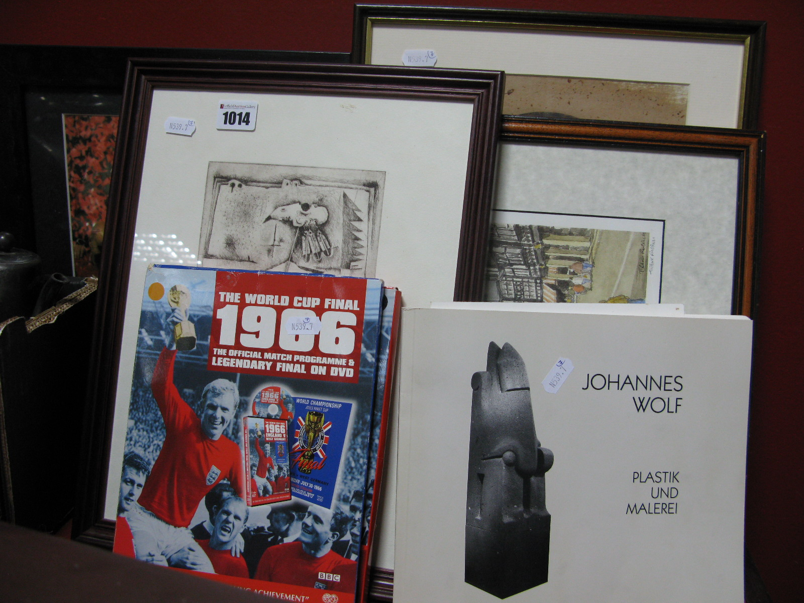 Lot 1014 - Johannes Wolf Exhibition Catalogue, together with three signed limited edition prints; a Frank