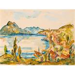 Wilhelm Thöny Graz 1888 - 1949 New York Vierwaldstättersee Öl und Deckweiß auf Papier auf Karton