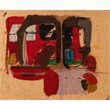 Peter Krawagna Klagenfurt 1937 * Ohne Titel / untitled Öl auf Papier / oil on paper 45 x 55 cm