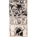 Pierre Alechinsky (hs art) Brüssel 1927 * Navette Tusche auf Büttenpapier / india ink on hand-made