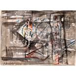 Hans Staudacher St. Urban 1923 * Ohne Titel / untitled Mischtechnik auf Papier / mixed media on