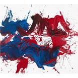 Otto Mühl (hs art) Grodnau 1925 - 2013 Moncarapacho Rote Frau Öl auf weiß grundierter Leinwand / oil