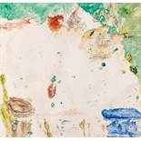 Max Weiler (hs art) Absam 1910 - 2001 Wien Durchblick Chromoxydgrün Eitempera und Graphit auf