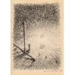 Gottfried Helnwein Wien 1948 * Ohne Titel (Lampe) Tusche auf Transparentpapier / india ink on