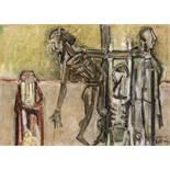 Markus Lüpertz (hs art) Liberec 1941 * Kreuzigung Öl auf Jute / oil on jute 123 x 168 cm rechts