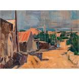 Heinrich Krause Rodaun 1885 - 1983 Wien Dalmatinische Landschaft Öl auf Leinwand / oil on canvas