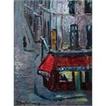 Hans Fronius Sarajevo 1903 - 1988 Mödling Paris Bistro (Straßenszene bei Nacht), Rückseitiges