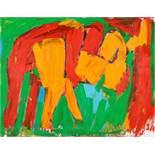 Otto Mühl (hs art) Grodnau 1925 - 2013 Moncarapacho Adam und Eva Öl auf Leinwand / oil on canvas 140