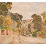 August Rieger Wien 1886 - 1941 Wien Dorf in Niederösterreich (Pötzleinsdorf) Öl auf Holzplatte / oil