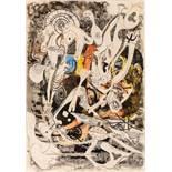 Oswald Oberhuber Meran 1931 * Ohne Titel (Picasso) Mischtechnik auf Papier / mixed media on paper