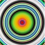 Gary Lang Ojai, Californien 1950 * FUTURE CIRCLE SQUARED Acryl auf Leinwand / acrylic on canvas 92 x