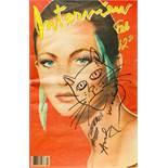 Andy Warhol Pittsburgh 1928 - 1987 New York Katzenkopf-Skizze (gezeichnet am Cover von: Interview,