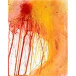 Arnulf Rainer Baden 1929 * Ohne Titel / untitled Öl auf Papier auf Holzplatte / oil and paper on