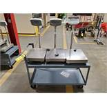 LOT OF (3) AE ADAM DIGITAL SCALE ON ROLLING CART