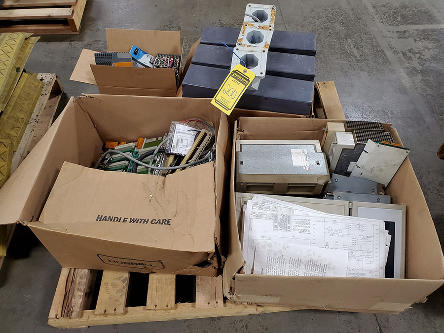 SKID OF SIEMENS INJECTION MOLDING MACHINE PARTS; MOTHER BOARD, CPU CARD, INPUT & OUTPUT