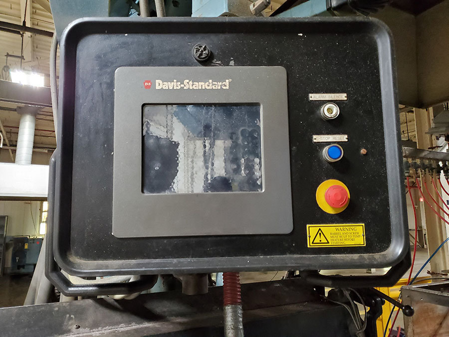 "DAVIS STANDARD 3-1/2"" THERMATIC PLASTIC EXTRUDER, MODEL 35IN35, SN: N1219, HP CAP: 158, KW CAP 118 - Image 8 of 11"