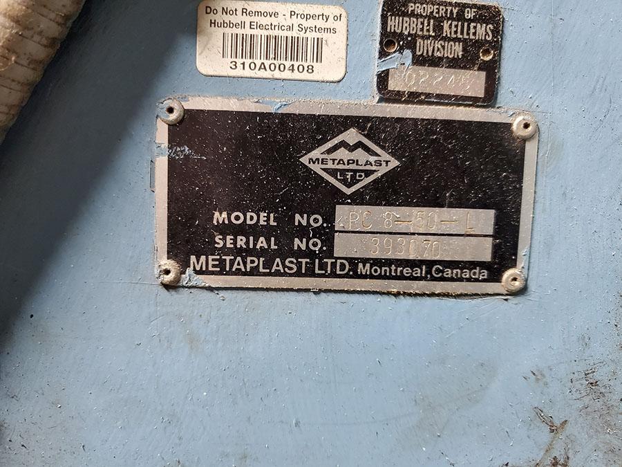 METAPLAST PULLER; MODEL PC-8-50-L, S/N 393070 - Image 6 of 8