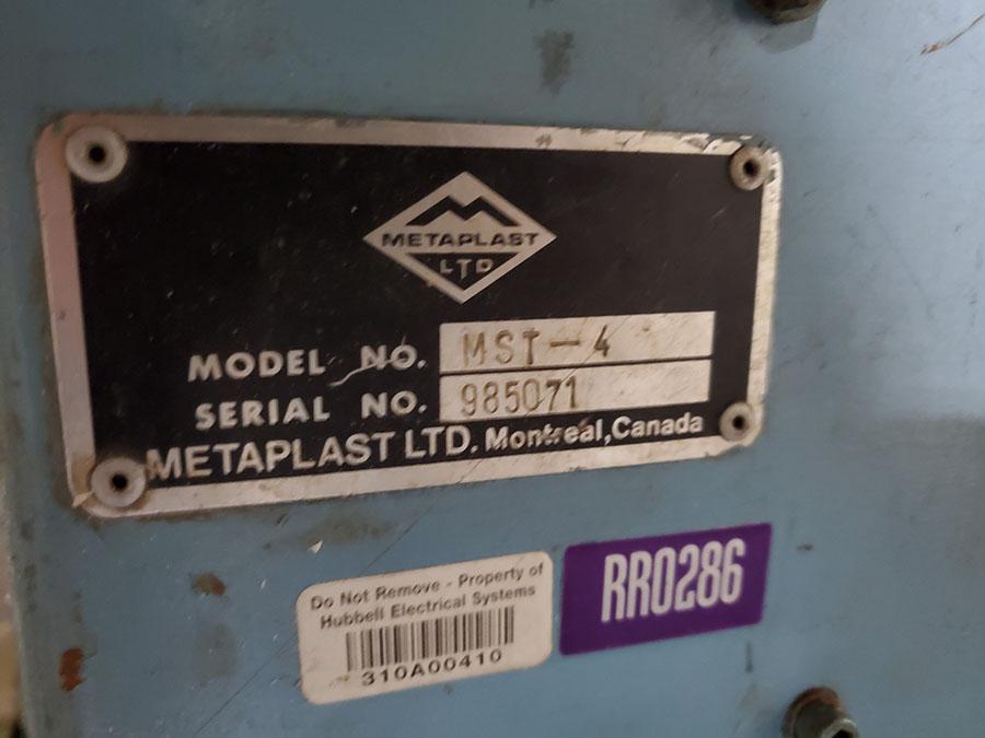 METAPLAST SHEAR; MODEL MST-4, S/N 985071 - Image 6 of 8
