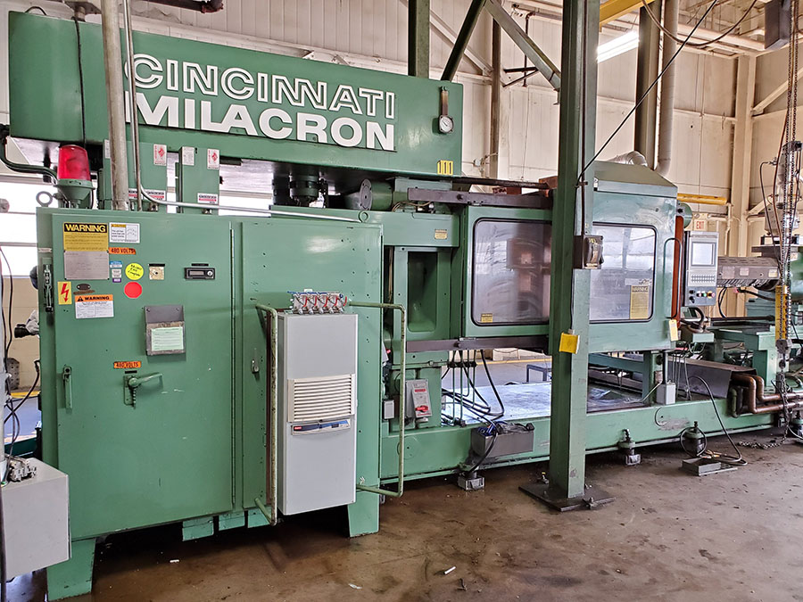 CINCINNATI MILACRON PLASTIC INJECTION MOLDING MACHINE; 500-TON, MODEL 500-70, S/N 4025A21/85-38, - Image 16 of 25