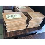 Lot de (19) Planches à servir, bois