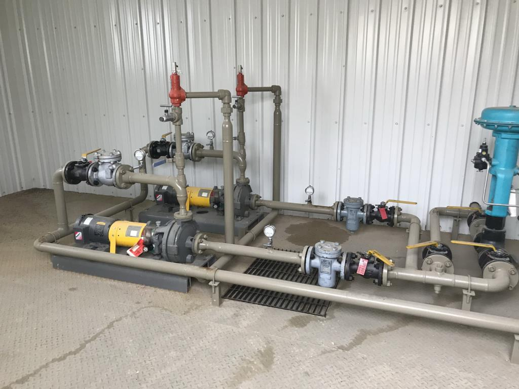 Lot 75 - Process Pump Skid. Process Pump Skid Including Condensate and Booster Pumps. EOG Stock #200411.