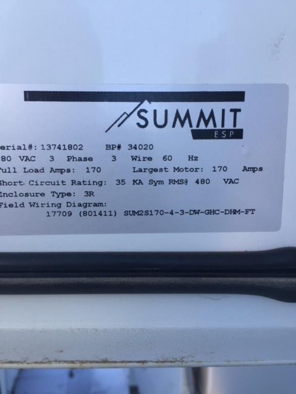 Lot 1 - Summit 141 KVA Variable Speed Drive (VSD)