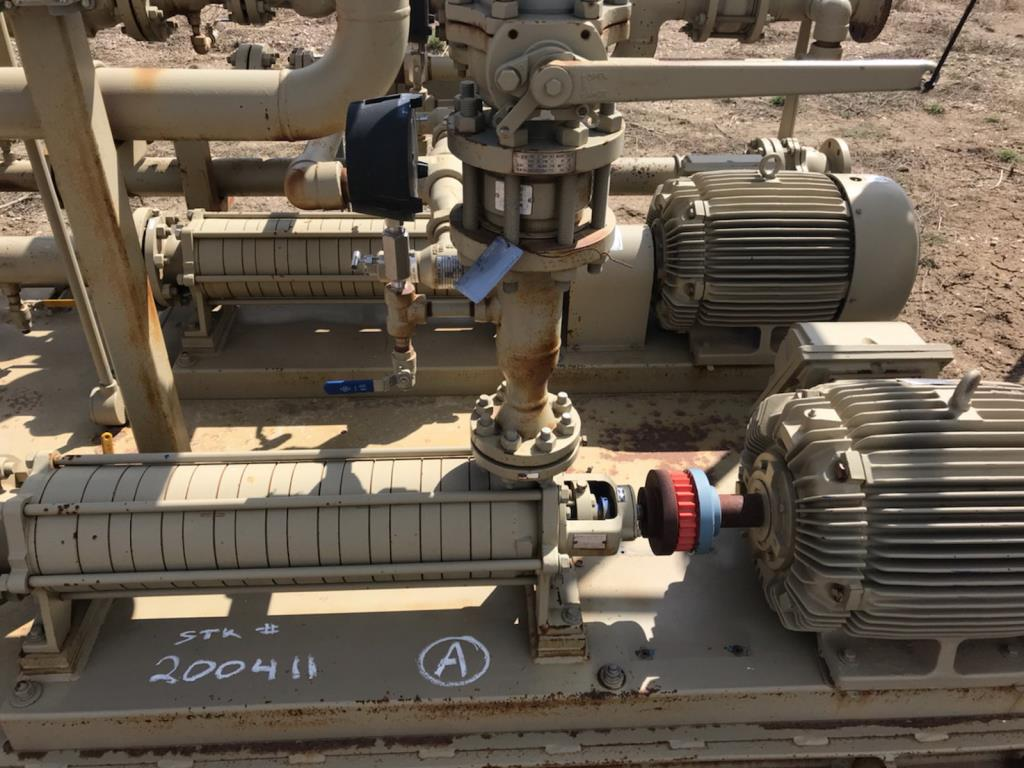 Lot 76 - Electric Pump Building. 8 Stage Electric Pump Building. EOG Stock #200460. Asset Located in