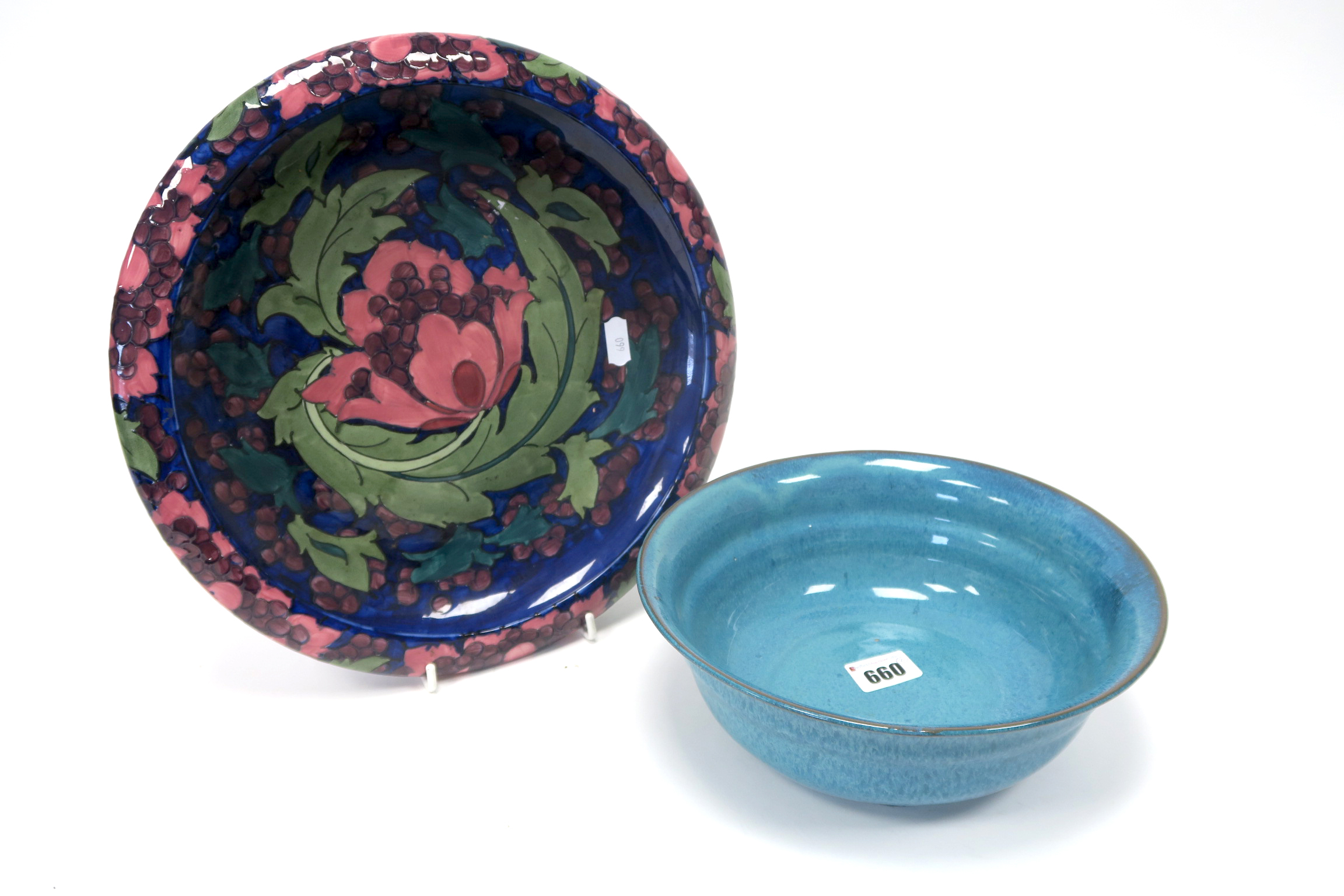 Lot 660 - A Carter, Stabler and Adams Poole Pottery Red Earthenware Chinese Blue Bowl, of circular form,